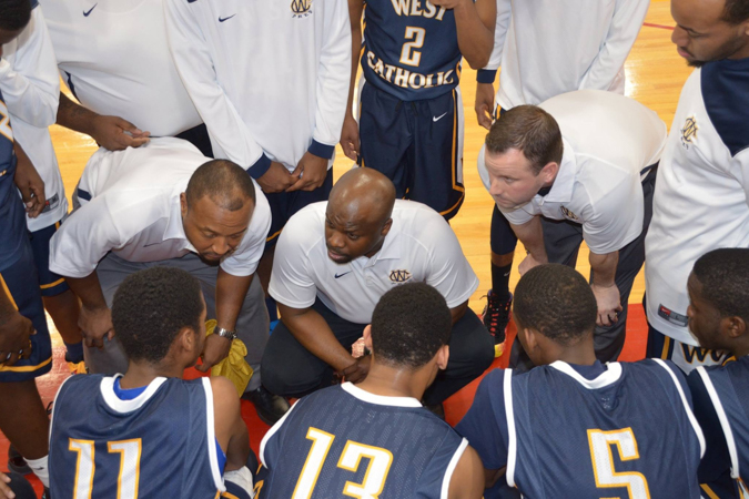West Catholic Prep Basketball Coaching Staff with Rob Wharton, Jazz Williams, and Pat Haggerty | @CoachHaggerty