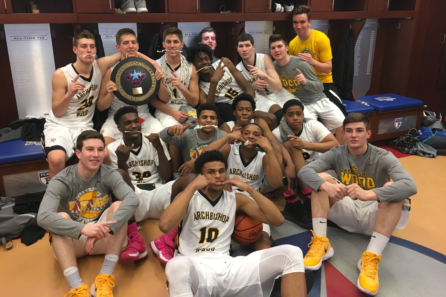2017 Philadelphia Catholic League Champions - Archbishop Wood Boys Basketball Team